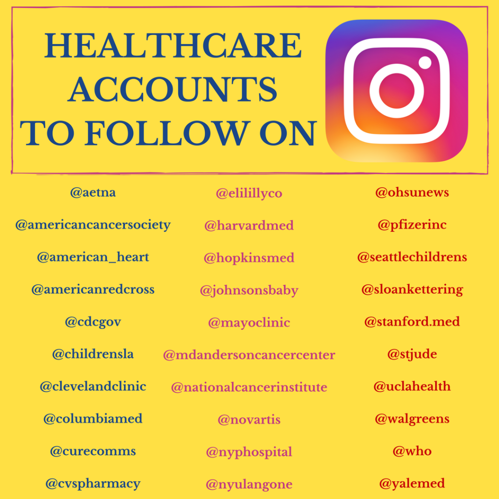 Healthcare Accounts to Follow on Instagram